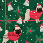 Bah Hum Pug Girls paperbag shorts with matching top
