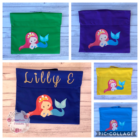 Mermaid Library Bag / Homework satchel