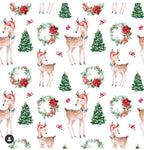 Reindeer Wreaths - Girls paperbag shorts with matching top