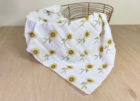 Sunflowers - Muslin Wrap