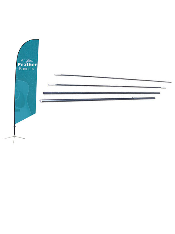 Angled Feather Banner Display Pole