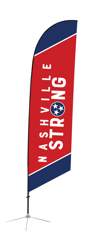 Nashville Strong Angled Feather Flag 1
