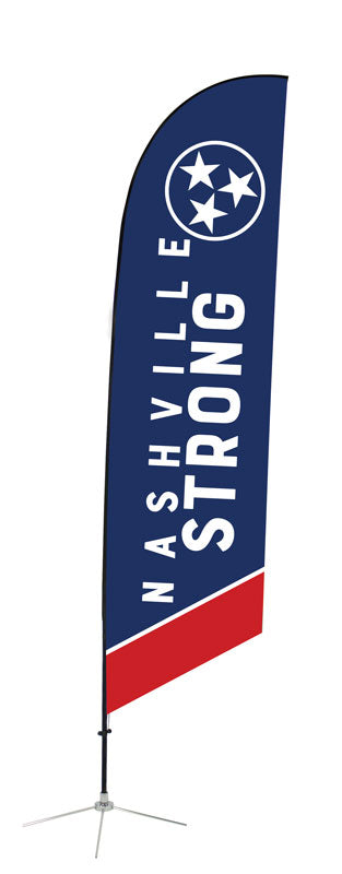 Nashville Strong Angled Feather Flag 2