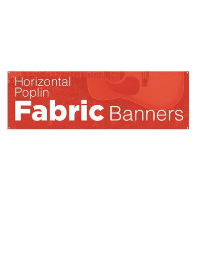 Custom Poplin Fabric Banners/Horizontal
