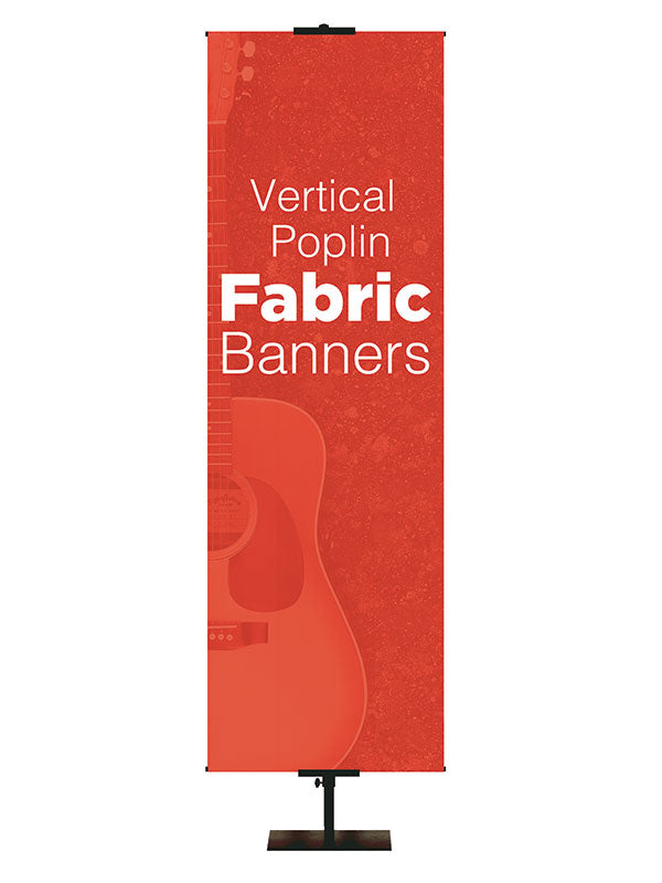 Custom Poplin Fabric Banners/Vertical