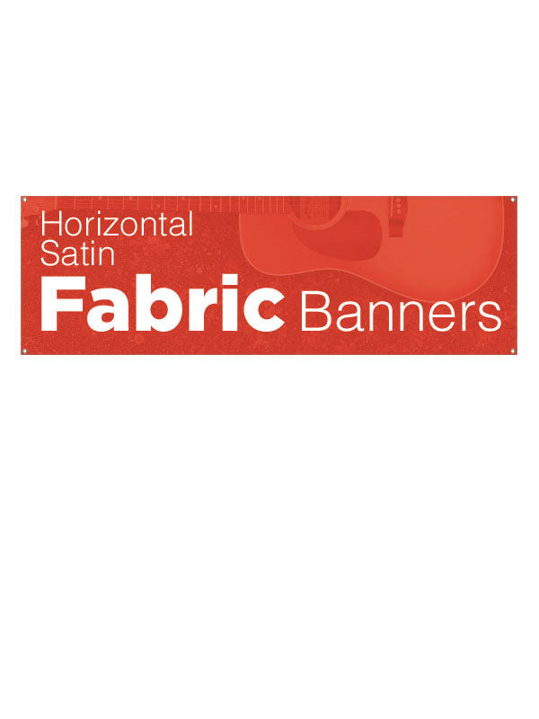 Custom Satin Fabric Banners/Horizontal