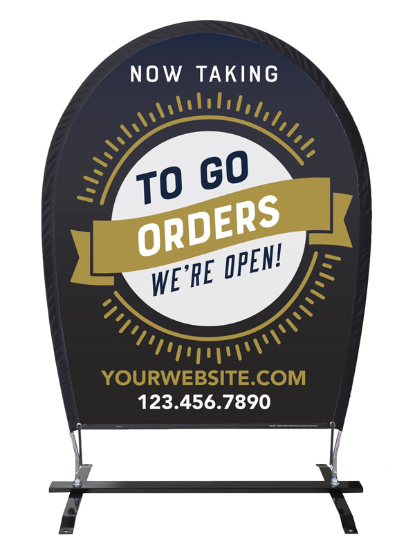 Take Out & Delivery Wind Jockey® Sign - Custom 2