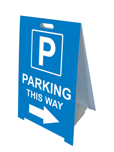 Fold-A-Frame™  Blue Parking Directional Sign