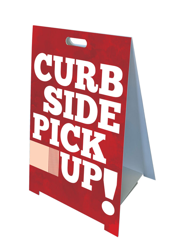 Fold-A-Frame™ Curb Side Pickup Sign