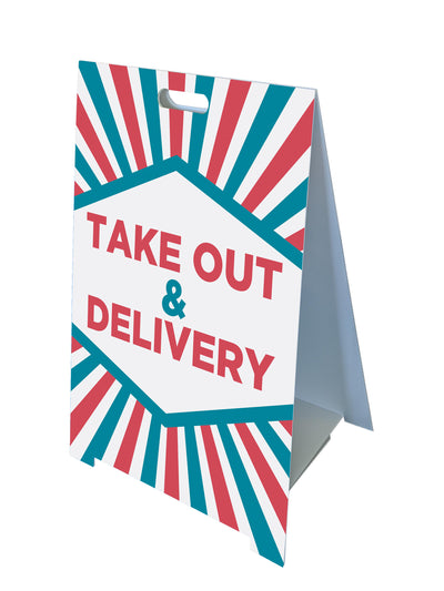 Fold-A-Frame™ Take Out and Delivery Sign