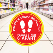 Retail Social Distancing Floor Decal Large Footprints