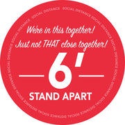 Retail Social Distancing Floor Decal We're In This Together