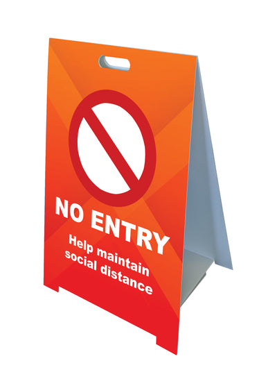 Fold-A-Frame™ Orange No Entry Sign