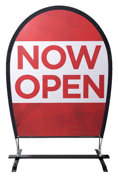 "Wind Jockey® ""NOW OPEN"" Flexible Outdoor Sign Kit"