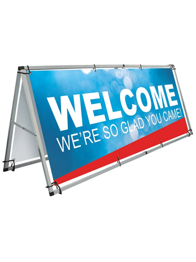 A-Frame Horizontal Banner Stand 8ft x 3ft