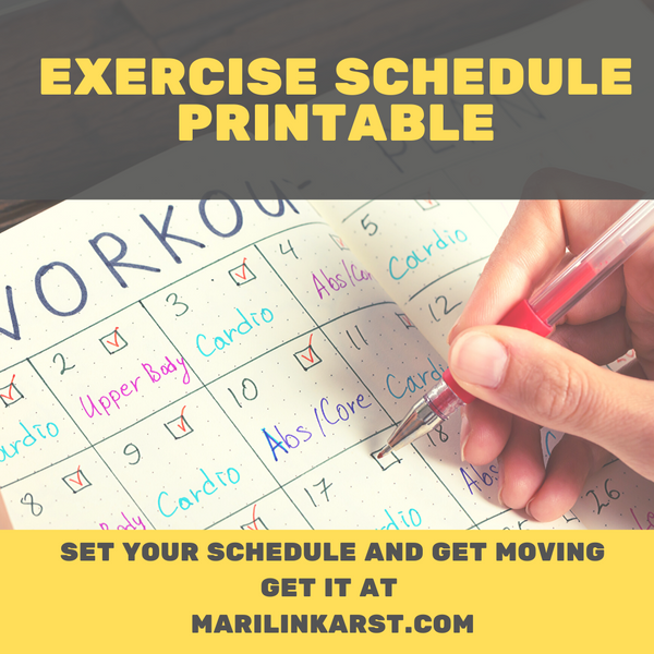 Exercise Schedule Printable. 7 Steps to use it successfully.