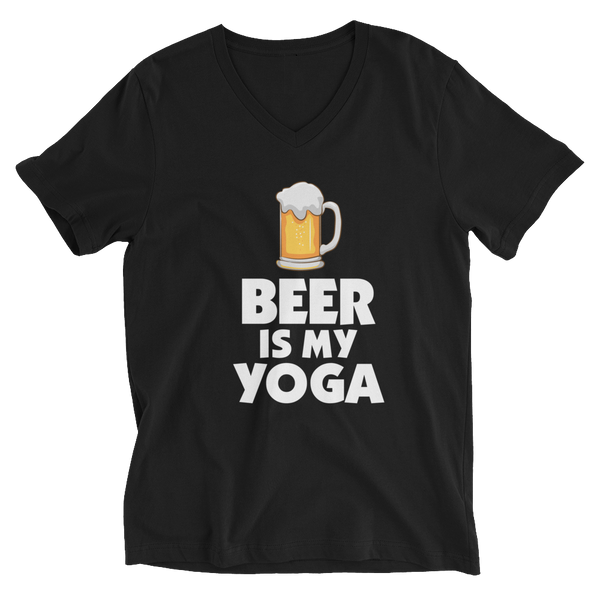 Beer Is My Yoga V-Neck T-Shirt - House of BeYouTee