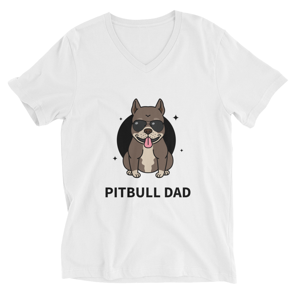 Pitbull Dad V-Neck T-Shirt - House of BeYouTee
