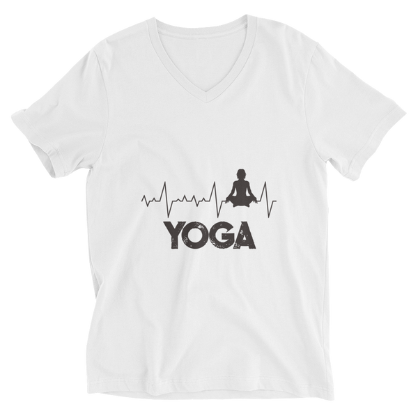 Yoga Lifeline V-Neck T-Shirt - House of BeYouTee