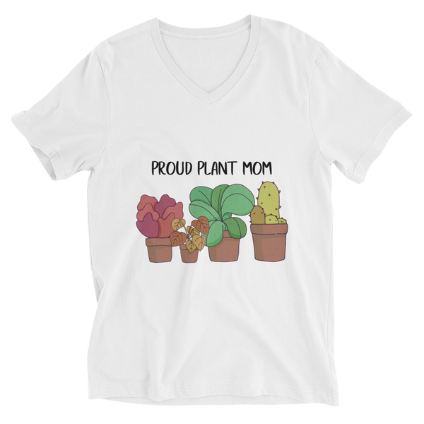Proud Plant Mom V-Neck T-Shirt - House of BeYouTee