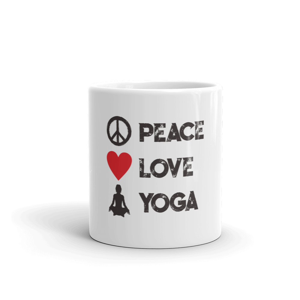 Peace Love Yoga - Mug - House of BeYouTee