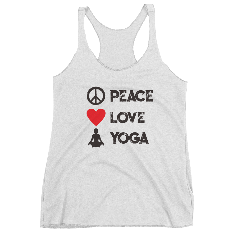 Peace Love Yoga - Tank Top - House of BeYouTee