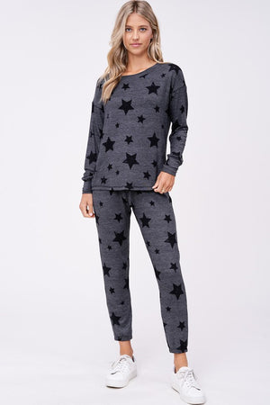 Black Stars Loungewear Set
