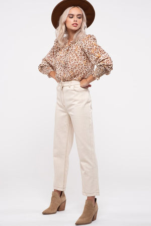 Madelyn Sheer Leopard Print Top