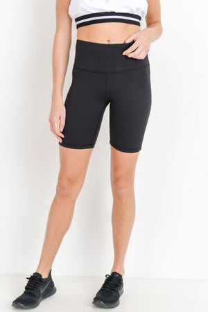 womens black biker shorts
