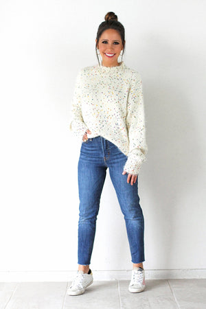 soft confetti winter sweater