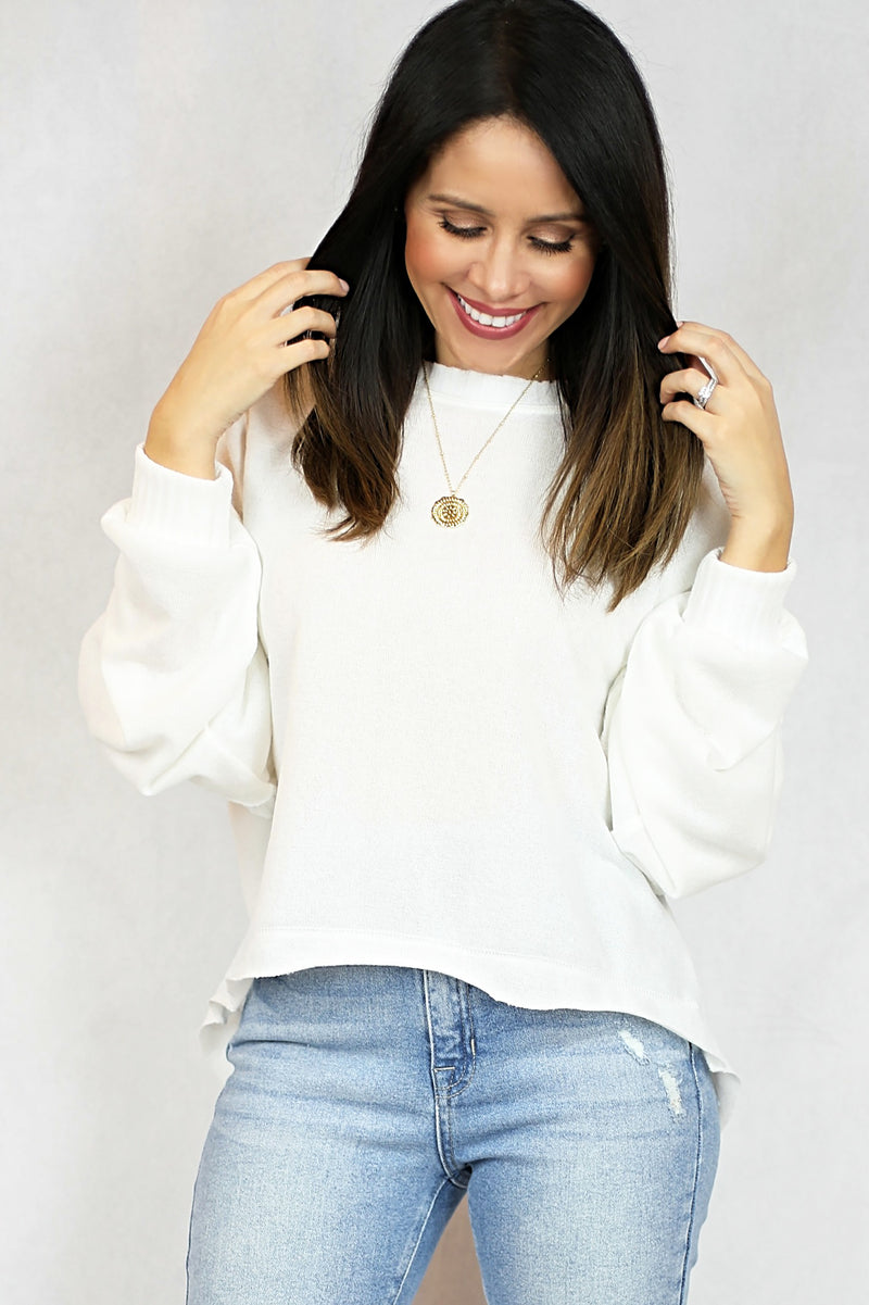 Peyton Dolman Sleeve Knit Top