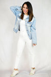 Rylee Distressed Denim Jacket