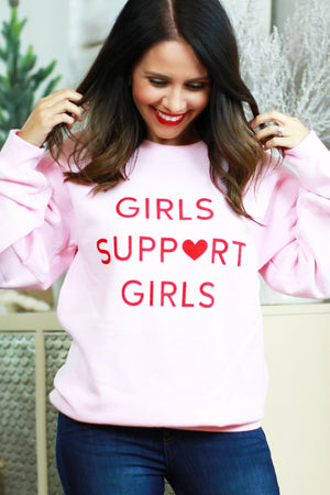 cozy pink sweater heart holiday style