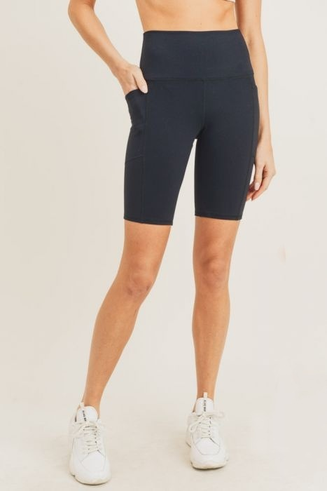 Emi Black High Waist Bike Shorts