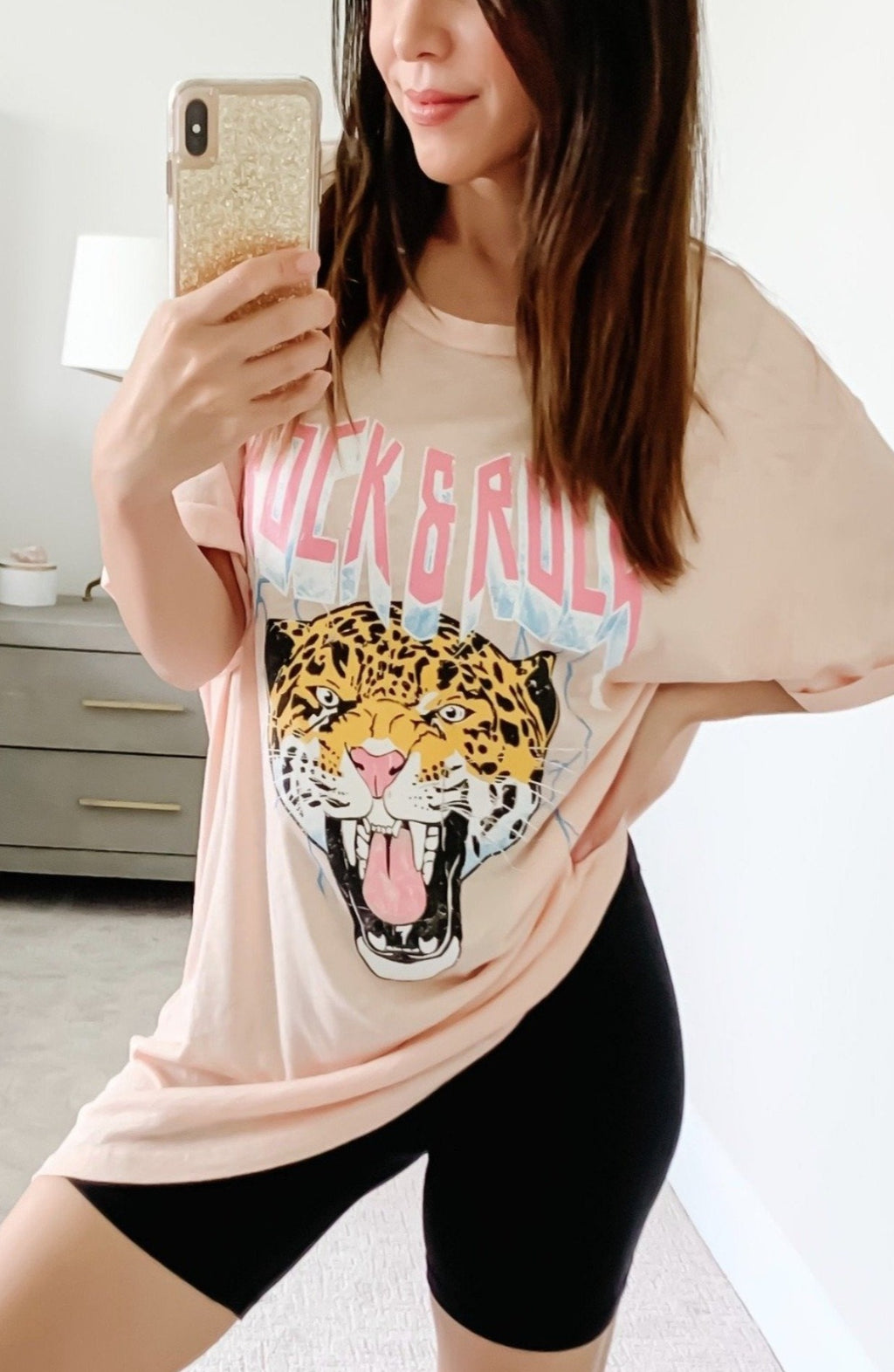 pink graphic tee