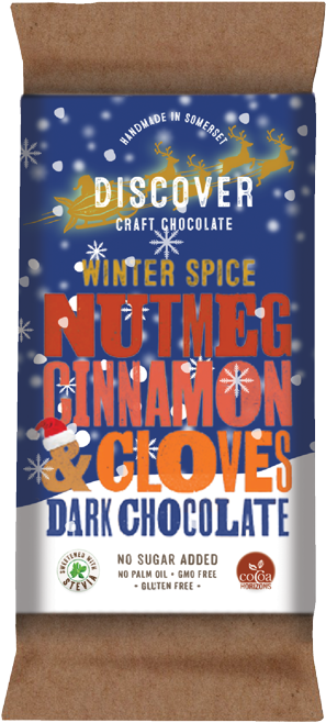 Christmas - Nutmeg, Cinnamon and Cloves on Dark Chocolate