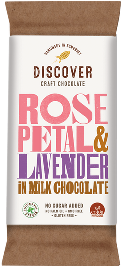 Rose Petal and Lavender in Milk Chocolate