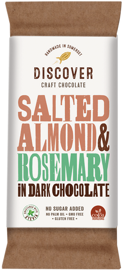 Salted Almond and Rosemary in Dark Chocolate