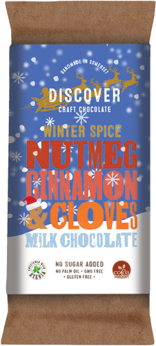 Winter Spice Milk - Nutmeg, Cinnamon and Cloves on Milk chocolate