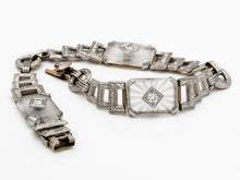 Load image into Gallery viewer, 1929 Antique Art Deco Diamond and Quartz Bracelet