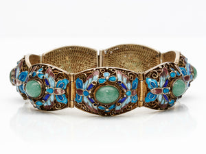 Antique Enameled Cloisonne Bracelet