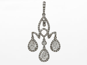 Diamond Chandelier Pendant in 18k White Gold