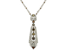 Load image into Gallery viewer, Natural Fancy Color Diamond Vintage Necklace
