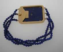 Load image into Gallery viewer, Yellow Gold Lapis Fleur de Lis Bracelet