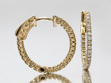 Load image into Gallery viewer, Dazzling Diamond Hoops in 14k Yellow Gold