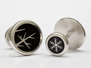 David Oscarson Winter Collection Cuff Links In Sterling Silver