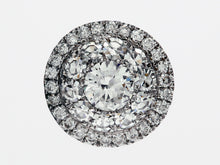 Load image into Gallery viewer, Diamond Cluster Slide Pendant in 18k White Gold