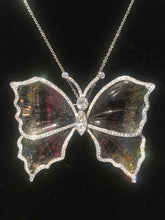 Load image into Gallery viewer, Breathtaking Tourmaline Butterly Pendant/Brooch