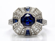 Load image into Gallery viewer, Vintage Style Sapphire and Diamond Ring