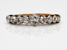 Load image into Gallery viewer, Antique Old Mine Cut Diamond Band in Yellow Gold